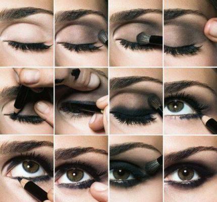 5_дымчатый макияж пошагов