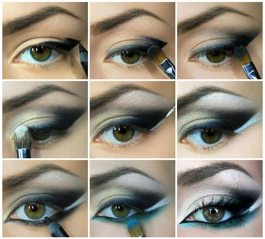 Техника-вечернего-макияжа